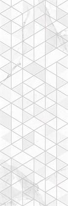 Декор Creto Вставка Statuario Vetro White W\DEC M 25x75 NR Glossy 1 - фото 100412