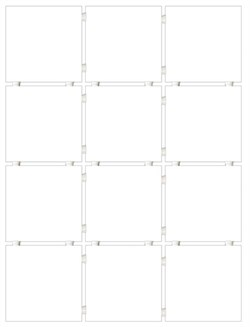 1146 Конфетти белый, полотно 30х40 из 12 частей 9,9х9,