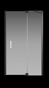 Душевая дверь Creto Tenta 123-WTW-120-C-B-8 стекло прозрачное EASY CLEAN, профиль черный, 120х200 см