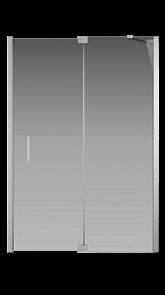 Душевая дверь Creto Tenta 123-WTW-140-C-CH-8 стекло прозрачное EASY CLEAN, профиль хром, 140х200 см