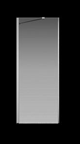 Боковая перегородка Creto Tenta 123-SP-800-C-CH-8 стекло прозрачное EASY CLEAN, профиль хром, 80х200 см