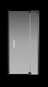 Душевая дверь Creto Tenta 123-WTW-100-C-B-8 стекло прозрачное EASY CLEAN, профиль черный, 100х200 см
