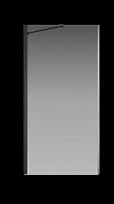 Боковая перегородка Creto Tenta 123-SP-100-C-B-8 стекло прозрачное EASY CLEAN, профиль черный, 100х200 см