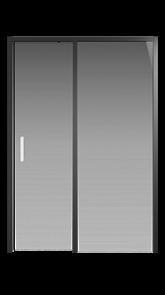 Душевая дверь Creto Nota 122-WTW-140-C-B-6 стекло прозрачное EASY CLEAN профиль черный, 140х200 см