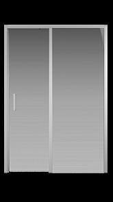 Душевая дверь Creto Nota 122-WTW-140-C-CH-6 стекло прозрачное EASY CLEAN профиль хром, 140х200см