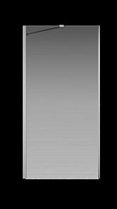 Боковая перегородка Creto Tenta 123-SP-100-C-CH-8 стекло прозрачное EASY CLEAN, профиль хром, 100х200 см