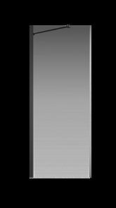 Боковая перегородка Creto Nota 122-SP-800-C-B-6 стекло прозрачное EASY CLEAN профиль черный, 80х200 см