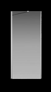 Боковая перегородка Creto Tenta 123-SP-900-C-CH-8 стекло прозрачное EASY CLEAN, профиль хром, 90х200 см