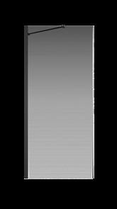 Боковая перегородка Creto Nota 122-SP-900-C-B-6 стекло прозрачное EASY CLEAN профиль черный, 90х200 см