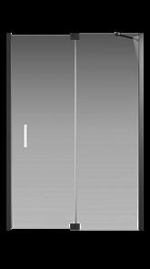 Душевая дверь Creto Tenta 123-WTW-140-C-B-8 стекло прозрачное EASY CLEAN, профиль черный, 140х200 см