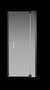 Душевая дверь Creto Tenta 123-WTW-90-C-B-8 стекло прозрачное EASY CLEAN, профиль черный, 90х200 см