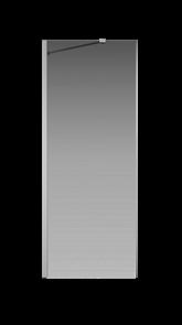 Боковая перегородка Creto Nota 122-SP-800-C-CH-6 стекло прозрачное EASY CLEAN профиль хром, 80х200 см