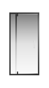 Душевая дверь Creto Astra 121-WTW-900-C-B-6 стекло прозрачное профиль черный, 90х195 см