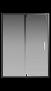 Душевая дверь Creto Astra 121-WTW-140-C-B-6 стекло прозрачное профиль черный, 140х195 см