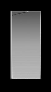 Боковая перегородка Creto Nota 122-SP-900-C-CH-6 стекло прозрачное EASY CLEAN профиль хром, 90х200см