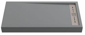 Душевой поддон Creto Scala 100x90, серый