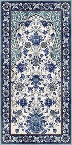 VT\A22\SG5918R Декор Орнамент синий обрезной 119,5х238,5