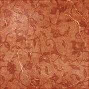 Сицилия Красный Вставка Листья 45x45