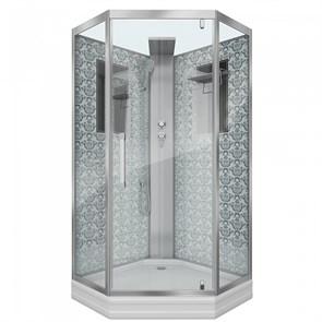 Душевая кабина Niagara Luxe NG-7717WBK 100х100х210 стекло прозрачное