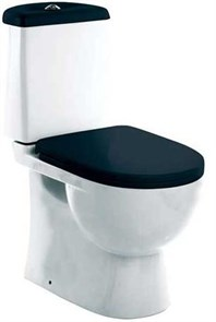 Унитаз-компакт Sanita luxe Best Color сиденье дюропласт soft close чёрное
