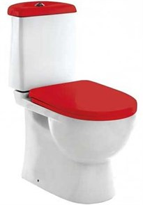 Унитаз-компакт Sanita luxe Best Color сиденье дюропласт soft close красное