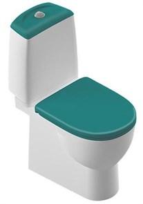 Унитаз-компакт Sanita luxe Best Color сиденье дюропласт soft close бирюзовое