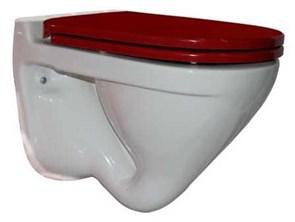 Унитаз подвесной Sanita luxe Attica Luxe Color Red белый/красное сиденье Soft-close