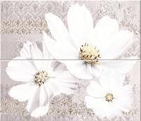 Sfumato Grey Floret Панно из 2 плиток