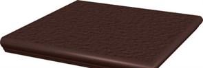 Natural Brown Ступень угловая с носиком структурированная