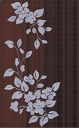 Кензо темно-корич. Декор Цветы 40х25