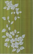 Кензо темно-фисташковый.зеленый Декор 25х40
