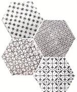 Marrakech Mosaic Negro Hexagon Декор