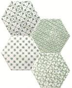 Marrakech Mosaic Verde Hexagon Декор