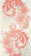 Азур Крем Декор бело-алый 1645-0052 25х45