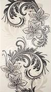Азур Крем Декор белый 1645-0046 25х45