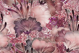 Decor Vidriera Geneve Violet R225 Панно (из 2х пл) 50x75 (Коллекция Geneve )