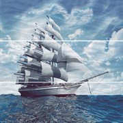 Decor Sea-3 Панно (из 3-х пл.) 75х75