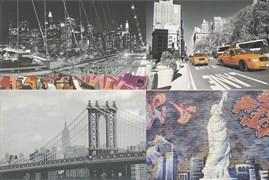 Grafiti multicolor Панно (из 2х пл) 50x75
