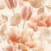 Tulipan 3 berna crema Панно (из 3х плиток) 75x75