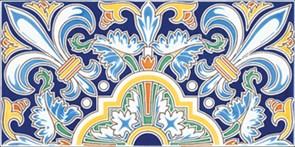 Cartuja Azul Плитка настенная 14х28