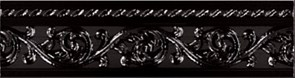 Бордюр Moldura Yara Negro 4*15