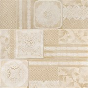Elite White Inserto Couture Mix 25x75 (3 орнамента)