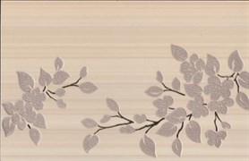Декор Цветы на светлом коричневый 25x40