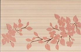 Декор Цветы на светлом терракотовый 25x40