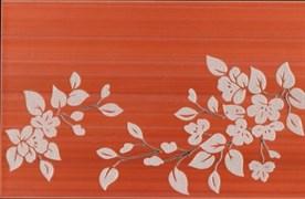 Декор Цветы на темном терракотовый 25x40