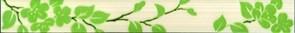 Бордюр Цветы на светлом 40x4.8 фисташковый