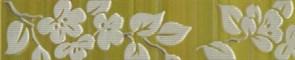 Бордюр Цветы на темном 25x4.8 фисташковый