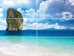 Меланж Остров панно (панно из 6 плиток) 25x50