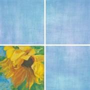 Декор Подсолнухи голубой 7201 20x20