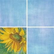 Декор Подсолнухи голубой 7203 20x20